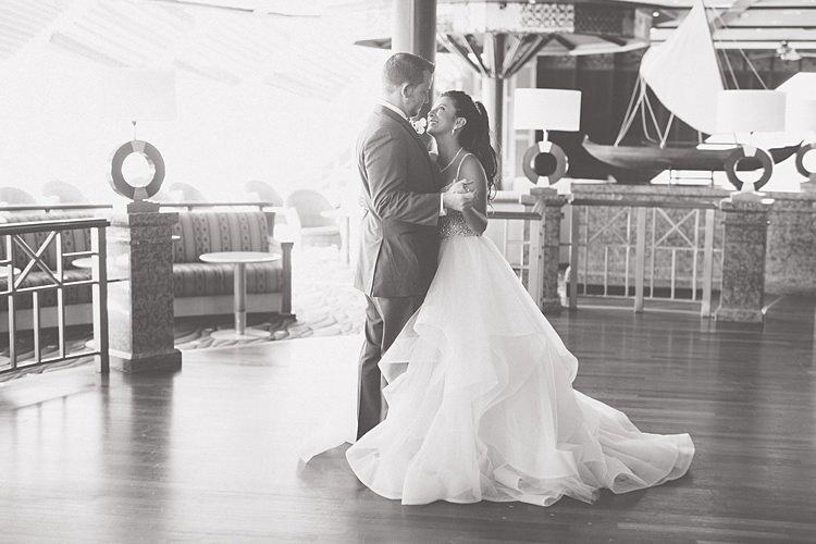 First Dance Whimsical Pastel Key West Beach Wedding http://kristenbooth.net/