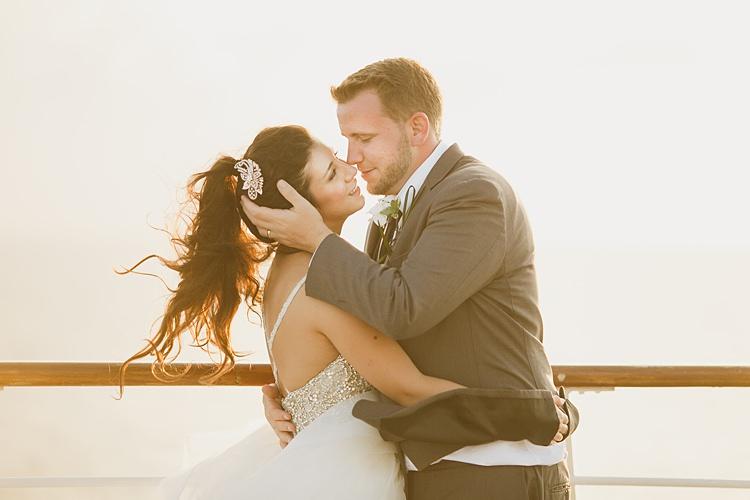 Bride Groom Boat Whimsical Pastel Key West Beach Wedding http://kristenbooth.net/