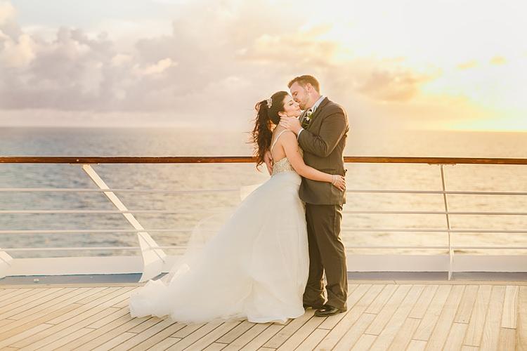Bride Groom Kiss Boat Whimsical Pastel Key West Beach Wedding http://kristenbooth.net/