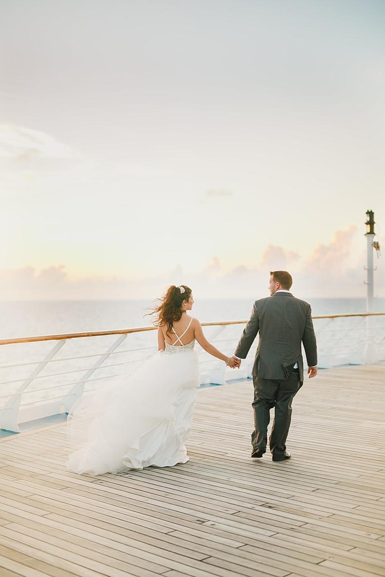 Bride Groom Hand Holding Boat Whimsical Pastel Key West Beach Wedding http://kristenbooth.net/