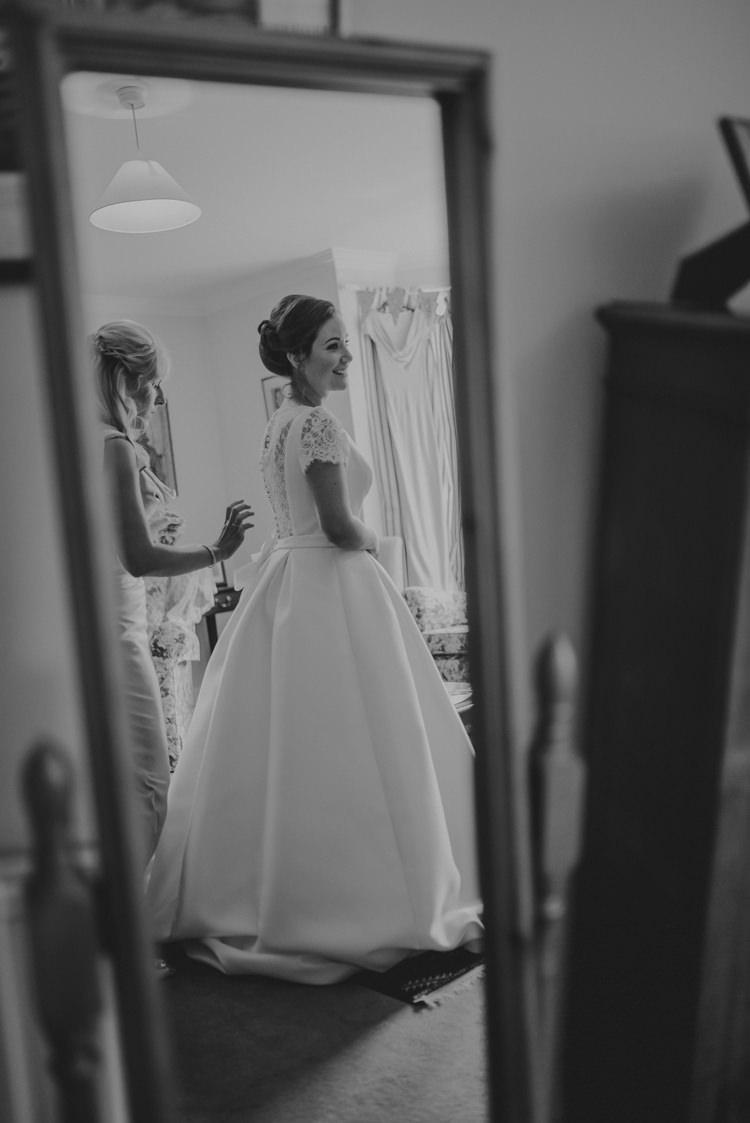 Pronovias Dress Gown Bride Bridal Cap Sleeves Lace Enchanting Cornflower Blue Marquee Wedding https://burfly.co.uk/