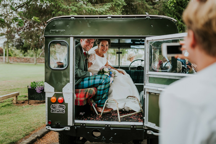 Landrover Car Transport Enchanting Cornflower Blue Marquee Wedding https://burfly.co.uk/