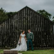 Enchanting Cornflower Blue Marquee Wedding