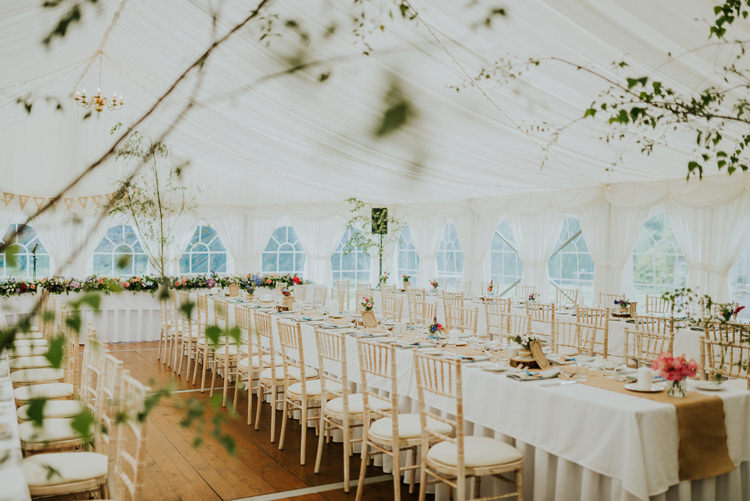 Trees Flowers Decor Enchanting Cornflower Blue Marquee Wedding https://burfly.co.uk/