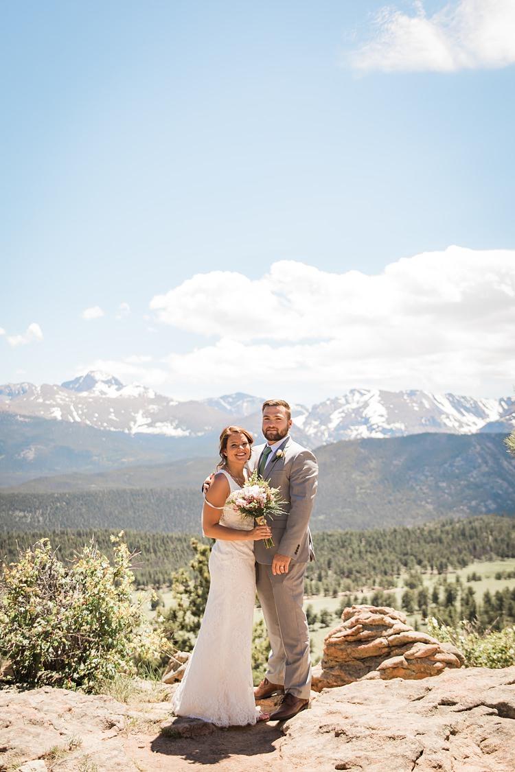 Bride Groom Scenic Rocky Mountain National Park Elopement http://allisonslaterphotography.com/