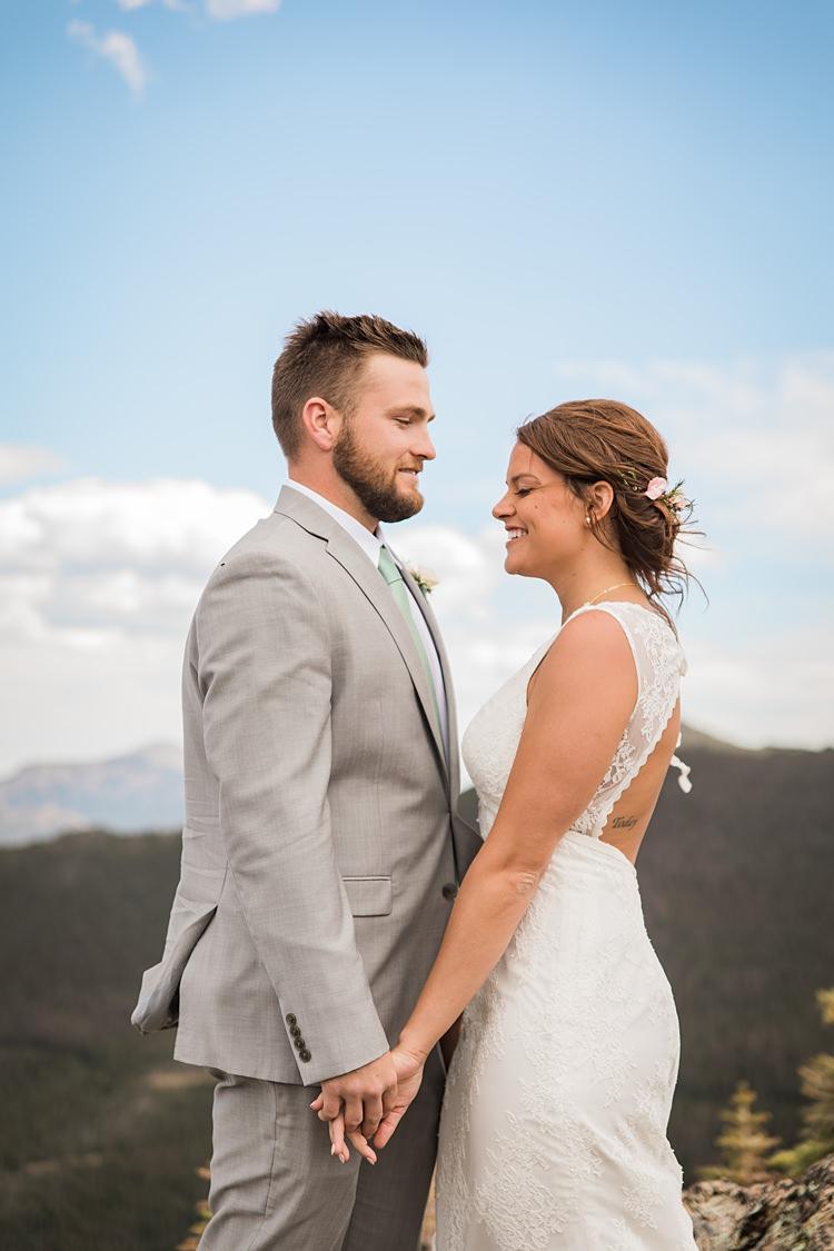 Bride Groom Windswept Scenic Rocky Mountain National Park Elopement http://allisonslaterphotography.com/