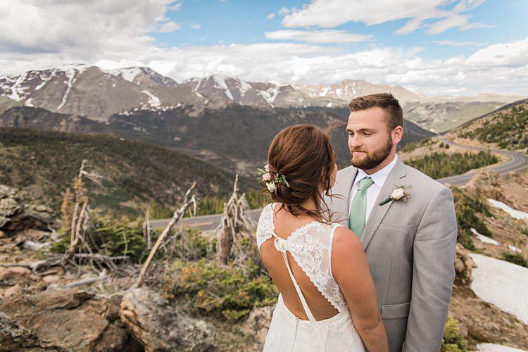 Bride Groom Landscape Scenic Rocky Mountain National Park Elopement http://allisonslaterphotography.com/