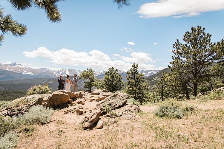 Ceremony Scenic Rocky Mountain National Park Elopement http://allisonslaterphotography.com/