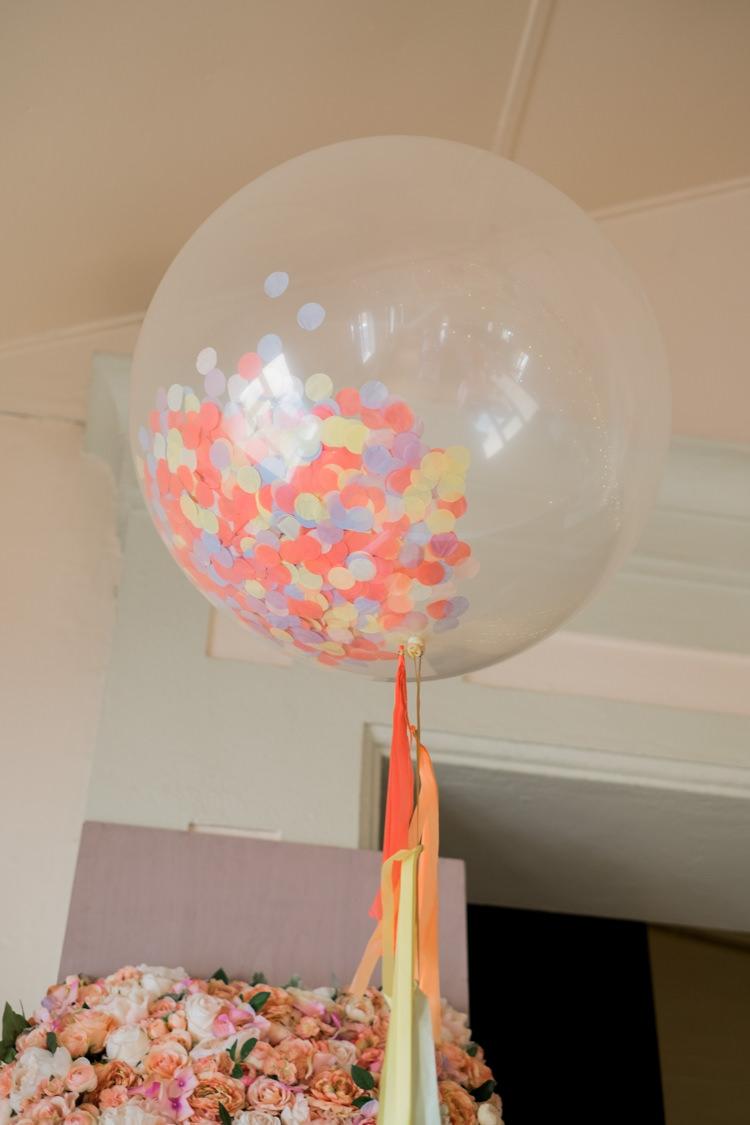 Confetti Balloon Tassel Decor Whimsical Unicorn Rainbow Wedding http://clairemacintyre.com/