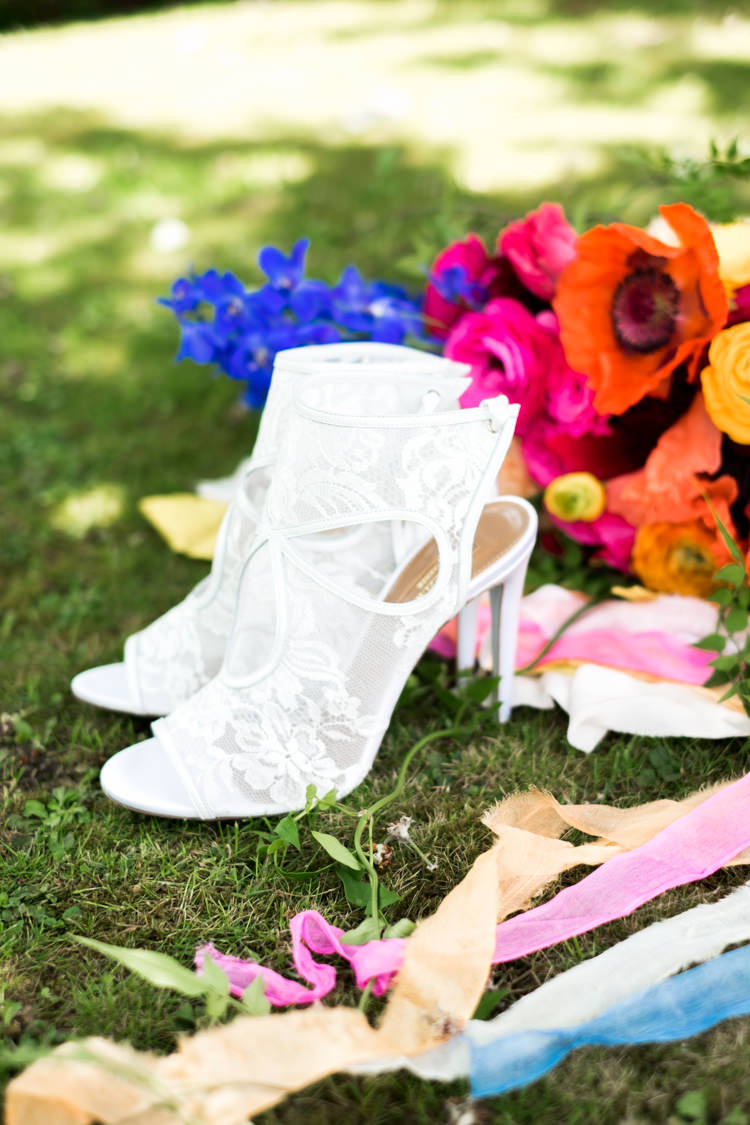 Lace Boot Cut Out Shoes Bride Bridal Whimsical Unicorn Rainbow Wedding http://clairemacintyre.com/