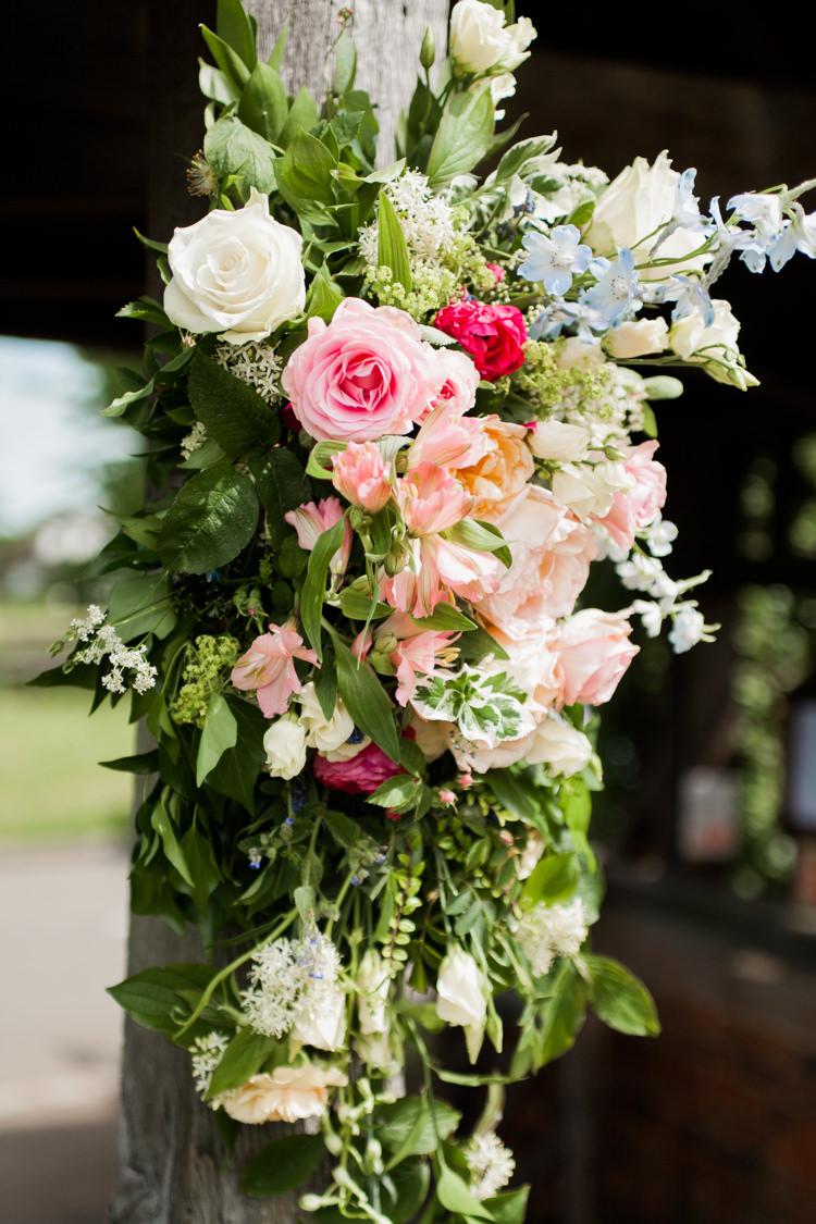 Church Flowers Arch Outdoor Whimsical Unicorn Rainbow Wedding http://clairemacintyre.com/