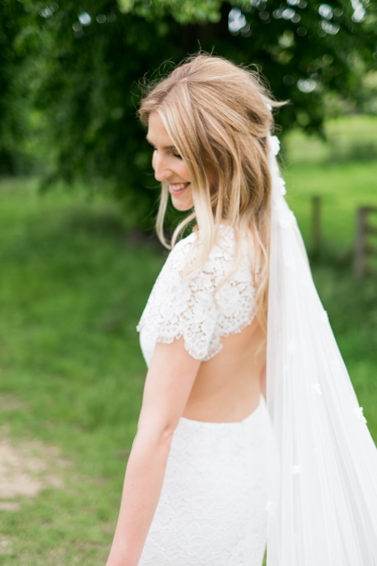 Lace Open Back Dress Gown Bride Bridal Whimsical Unicorn Rainbow Wedding http://clairemacintyre.com/
