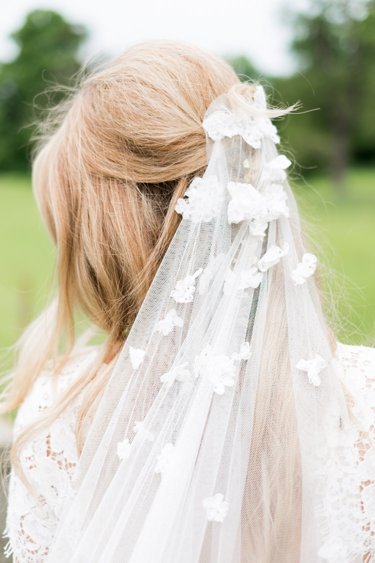 Hand Applique Lace Tulle Veil Whimsical Unicorn Rainbow Wedding http://clairemacintyre.com/