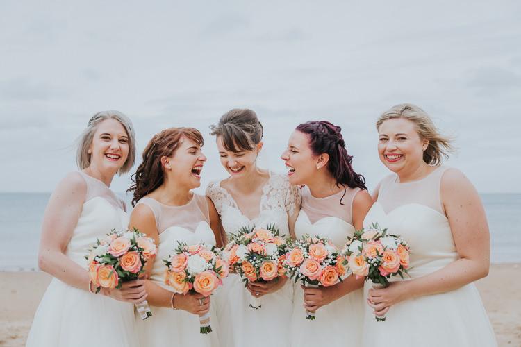 Colour Pop Coral Beach Wedding http://www.kategrayphotography.com/