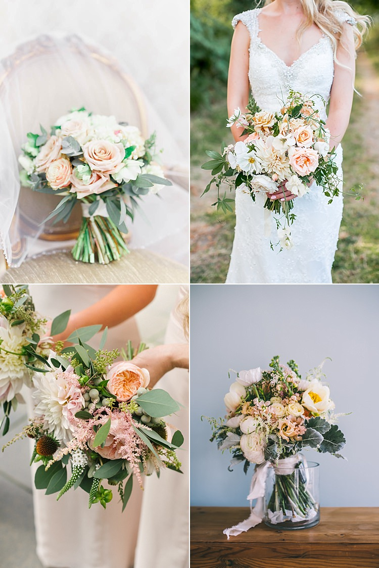 Blush Pink Wedding Flowers Bouquets