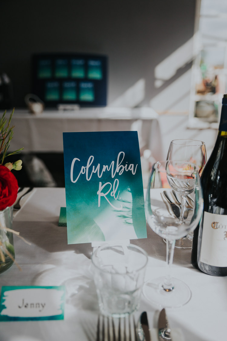 Table Name Watercolour Modern Calligraphy Low Key Colour Pop Local City Wedding http://www.kategrayphotography.com/