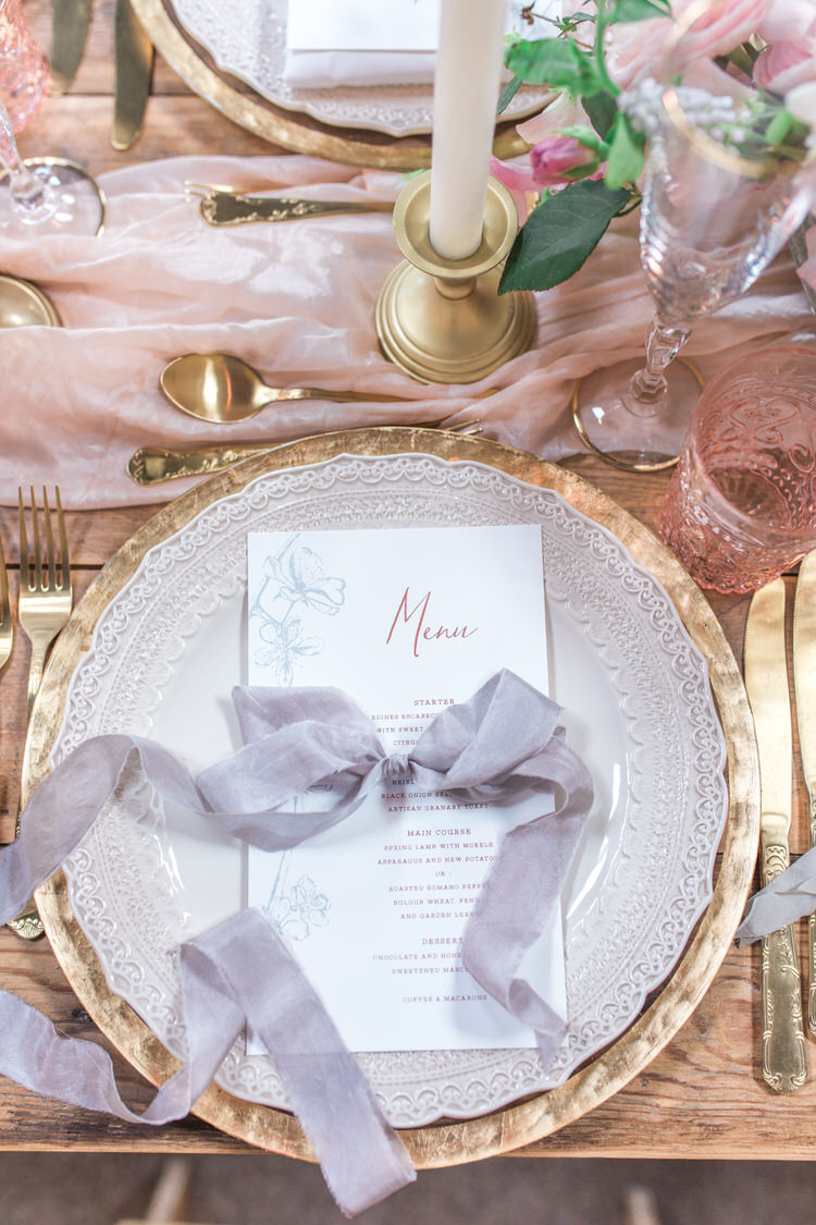 Decor Wooden Rustic Tablescape Fabric Candles Glasses Pink Flowers Place Setting Ribbon Ethereal Fine Art William Morris Wedding Ideas http://jessicadaviesphotography.co.uk/