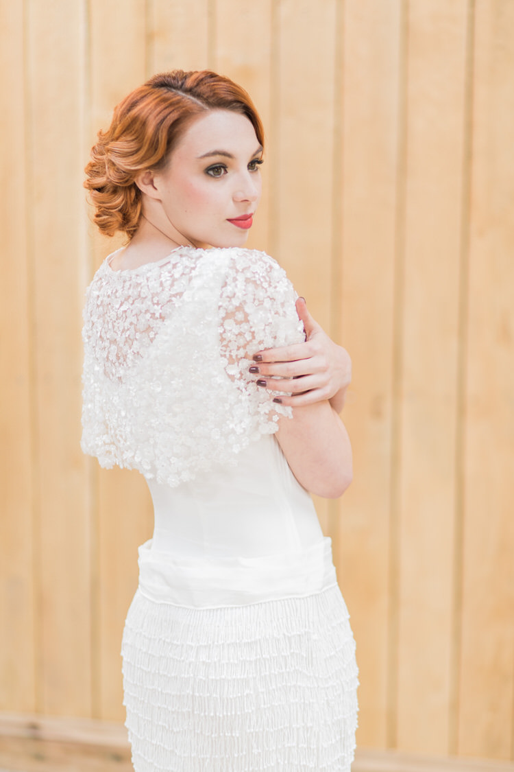 Vintage Bride Bridal Gown Beaded Tassel Cape Dress Ethereal Fine Art William Morris Wedding Ideas http://jessicadaviesphotography.co.uk/