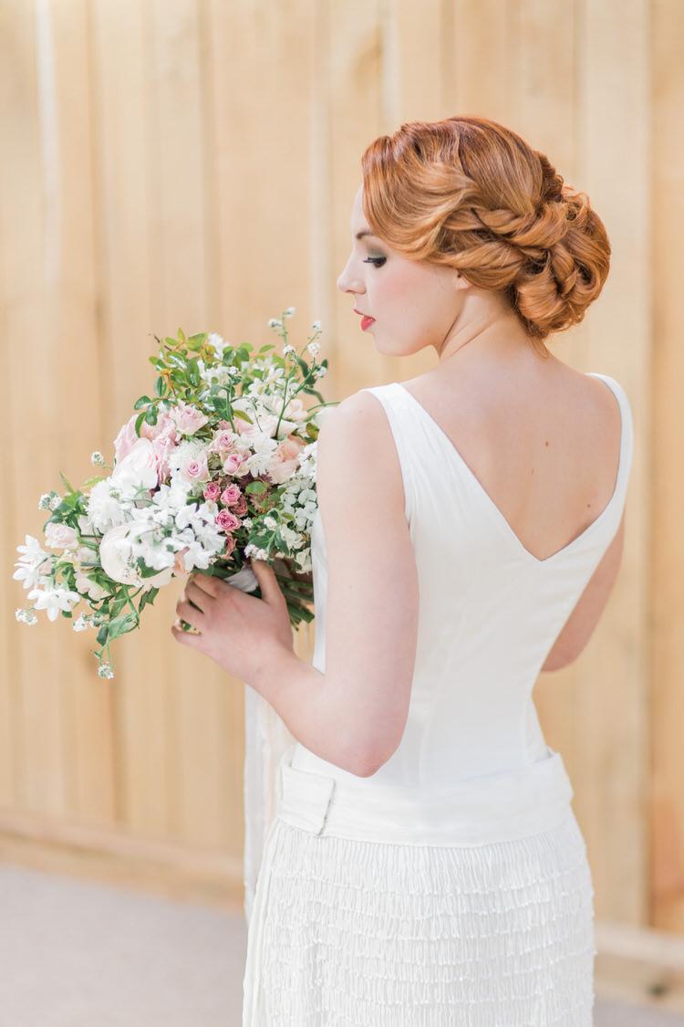 Bride Bridal Hair Stlye Up Do Ethereal Fine Art William Morris Wedding Ideas http://jessicadaviesphotography.co.uk/
