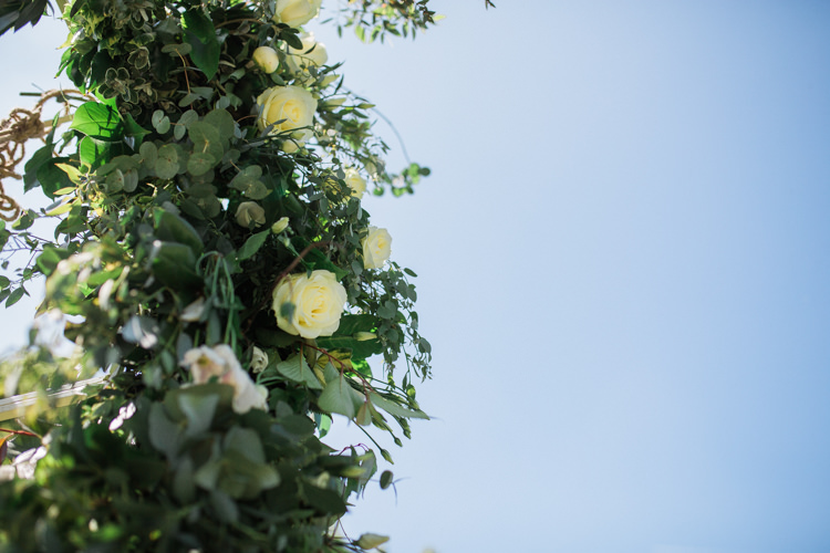 Foliage Rose Arch Flowers Bohemian Garden Greenery Wedding Ideas http://www.storytellerphotography.co.uk/