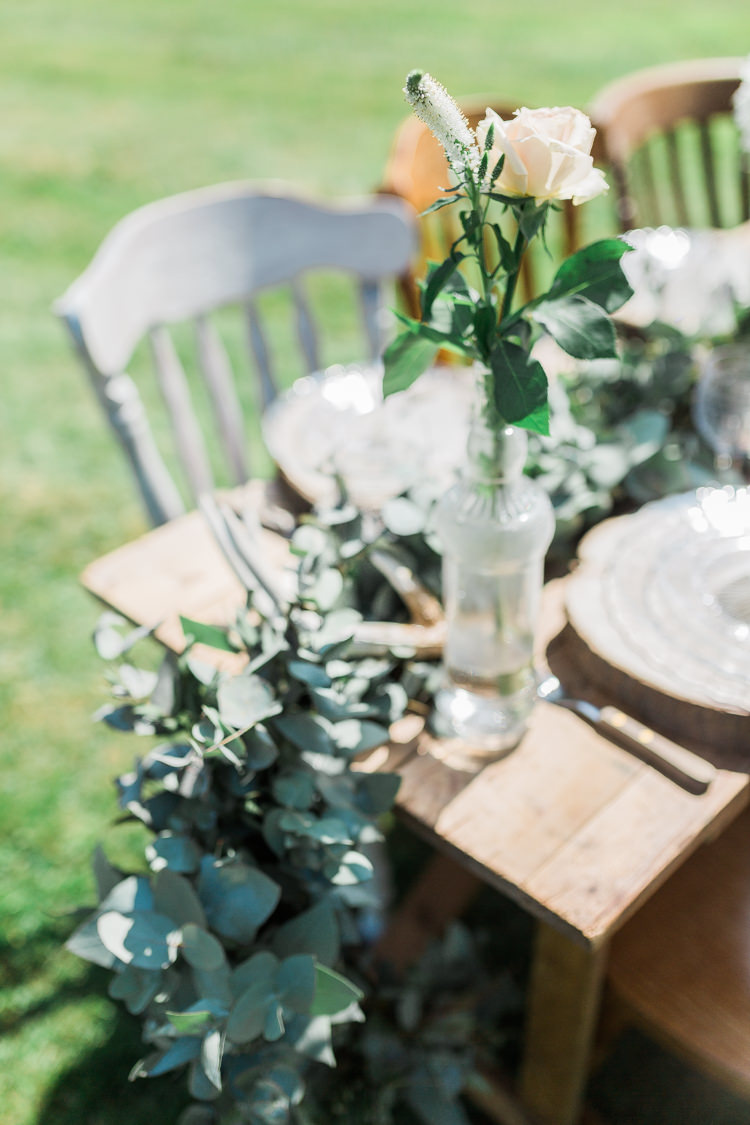 Foliage Swag Garland Table Runner Decor Bottles Flowers Tablescape Bohemian Garden Greenery Wedding Ideas http://www.storytellerphotography.co.uk/