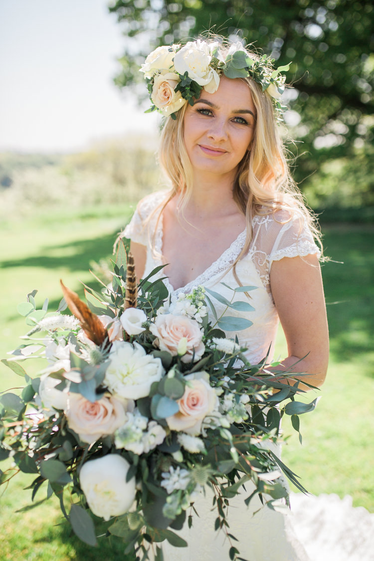 Make Up Bride Bridal Pretty Bohemian Garden Greenery Wedding Ideas http://www.storytellerphotography.co.uk/