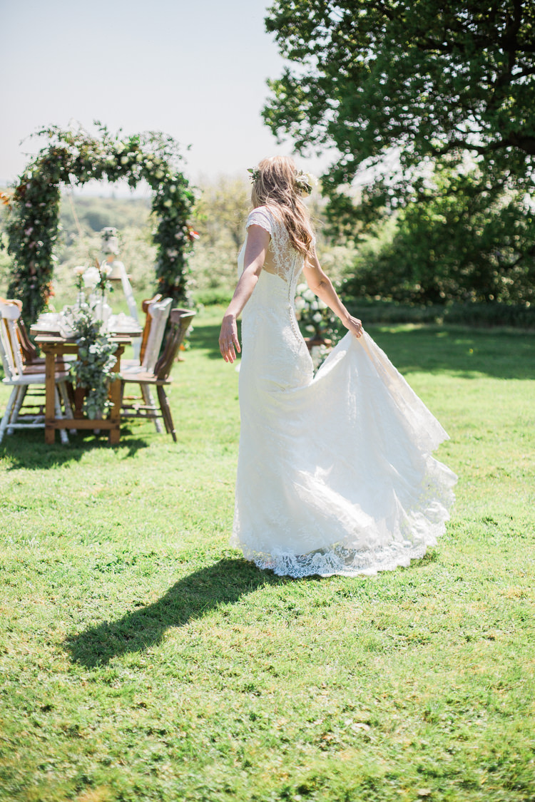 Alfred Angelo Lace Dress Gown Bride Bridal Bohemian Garden Greenery Wedding Ideas http://www.storytellerphotography.co.uk/