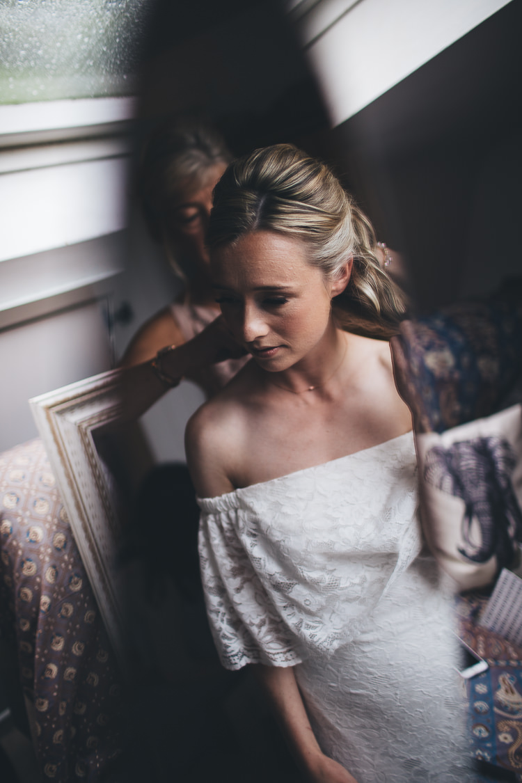 Hair Make Up Bride Bridal Style Large DIY Bohemian Tipi Party Wedding http://www.mikeplunkettphotography.com/