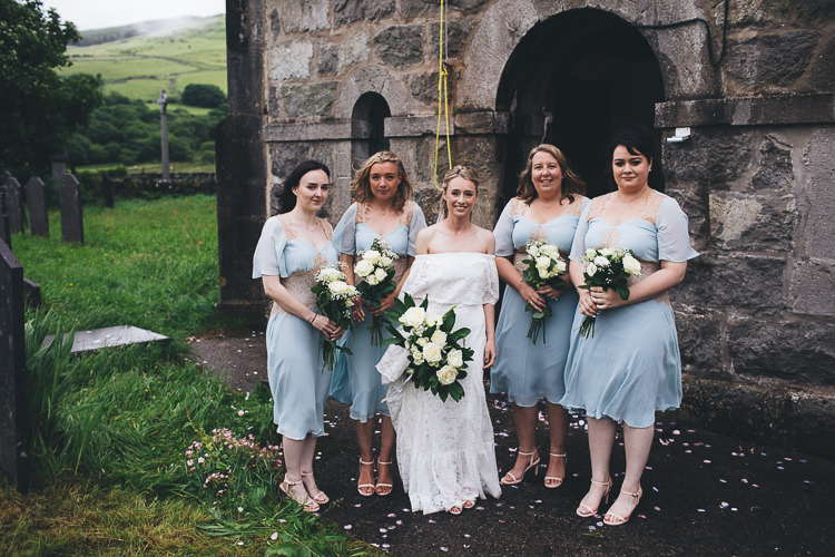 Short Pale Blue Bridesmaid Dresses Large DIY Bohemian Tipi Party Wedding http://www.mikeplunkettphotography.com/