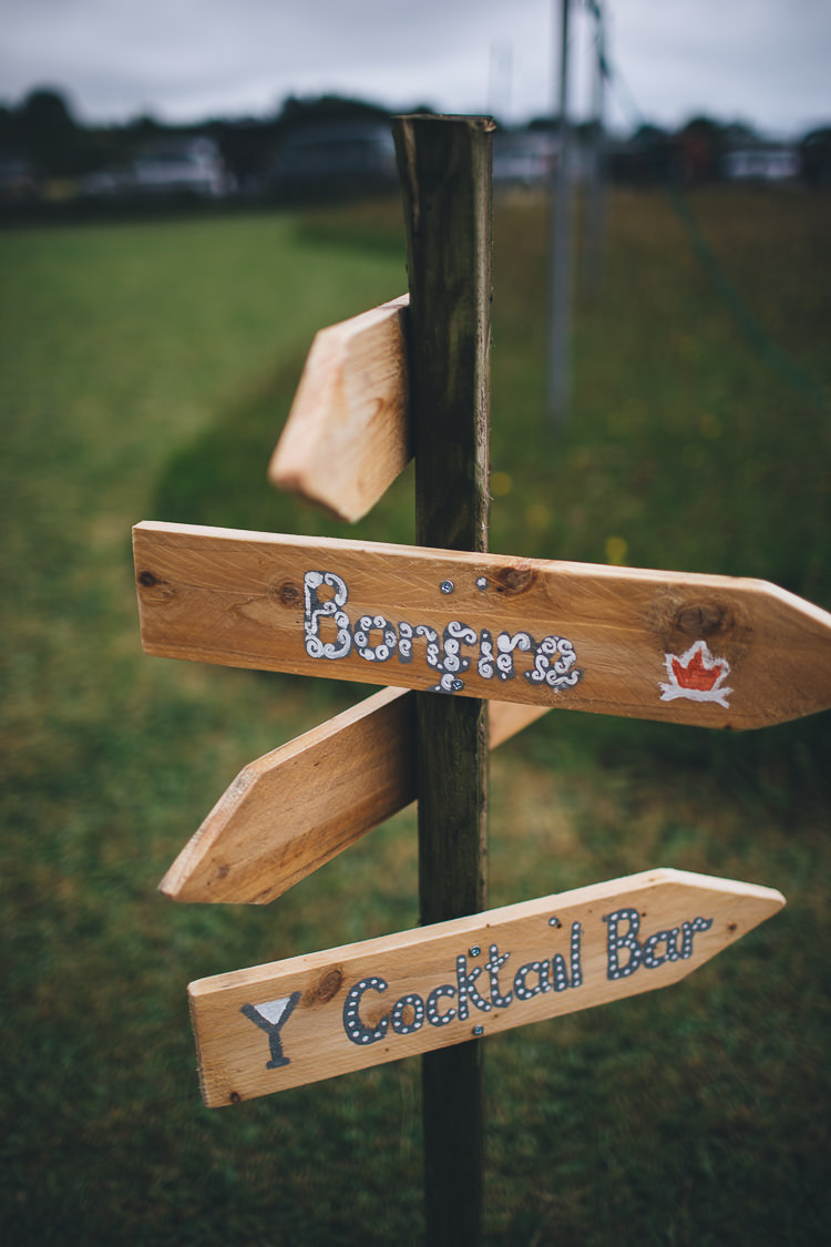 Painted Wooden Rustic Sign Post Large DIY Bohemian Tipi Party Wedding http://www.mikeplunkettphotography.com/