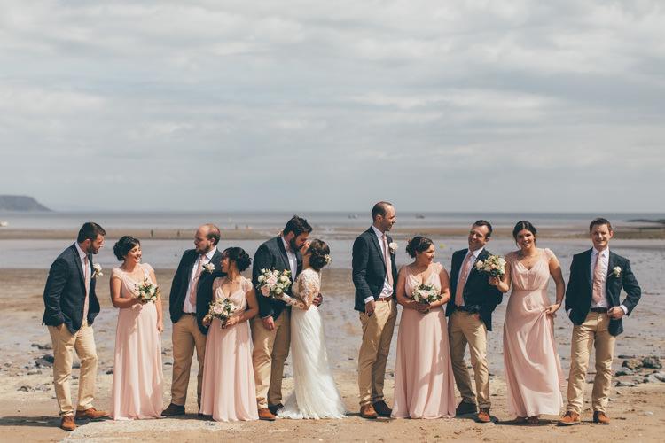 Pretty Pale Pink Scenic Coast Wedding http://rachellambertphotography.co.uk/
