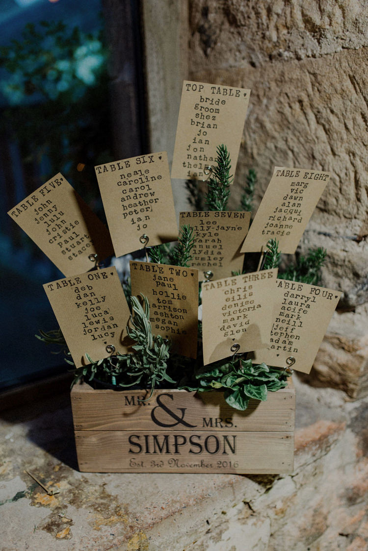 Crate Flowers Greenery Seating Plan Table Chart Dreamy Natural Boho Barn Wedding https://heychrisrandle.com/