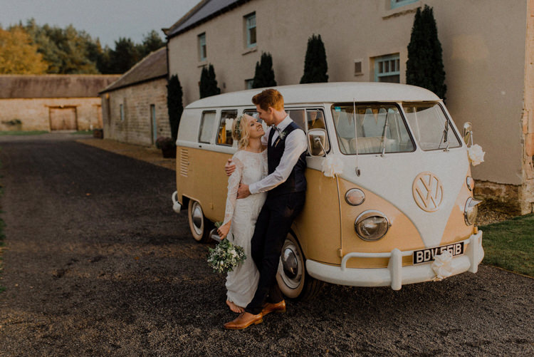 VW Camper Van Dreamy Natural Boho Barn Wedding https://heychrisrandle.com/