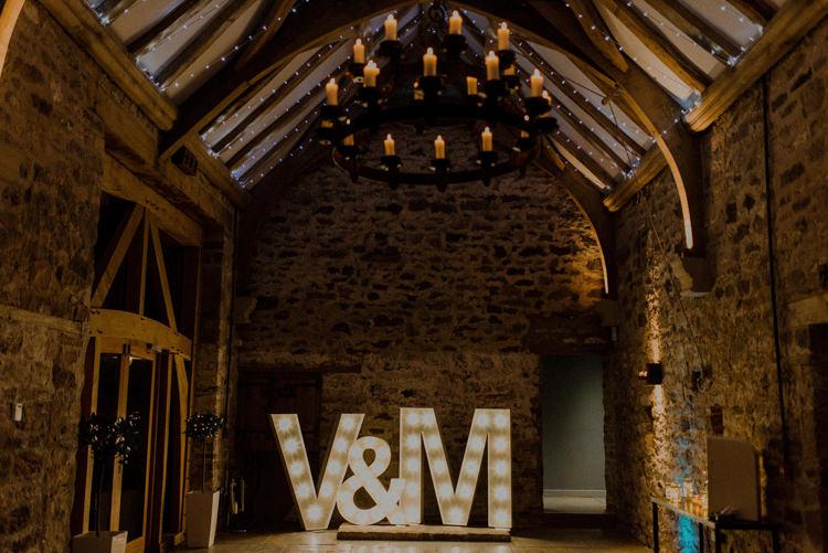 Letter Lights Dreamy Natural Boho Barn Wedding https://heychrisrandle.com/