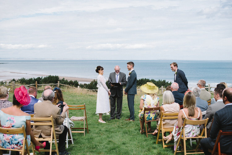 Outdoor Humanist Ceremony Scotland Vintage Log Cabin Wedding Sea http://www.lisadevinephotography.co.uk/