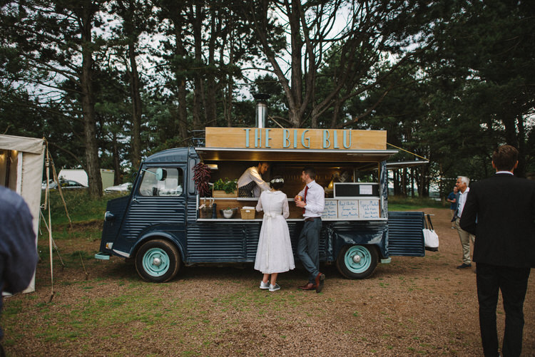 Pizza Van Truck Food Vintage Log Cabin Wedding Sea http://www.lisadevinephotography.co.uk/