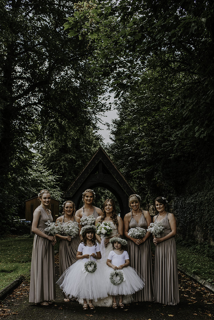 Bridesmaids Bride Flower Girls Enchanting Country Barn Wedding http://www.dmcclane.com/