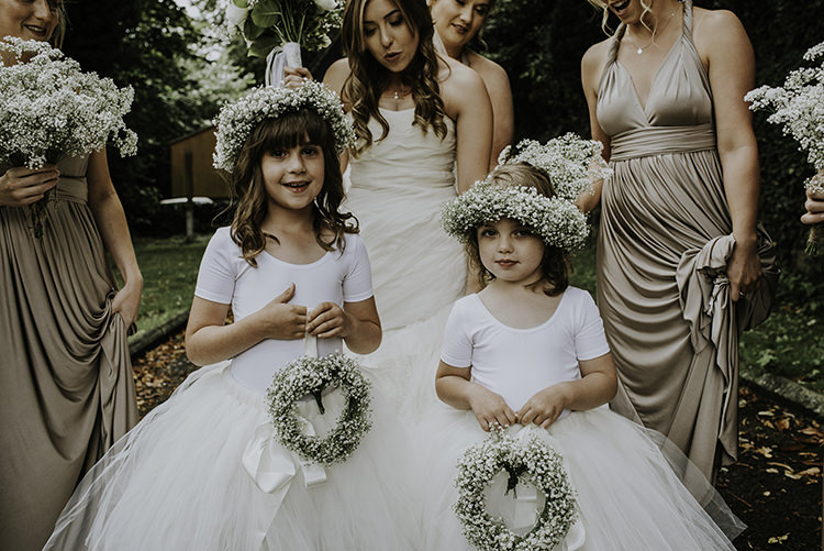Flower Girls Tutus Skirts Crowns Enchanting Country Barn Wedding http://www.dmcclane.com/