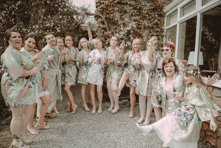 Bridesmaids Bride Dressing Gowns Whimsical Modern Rustic Barn Wedding http://photomagician.co.uk/