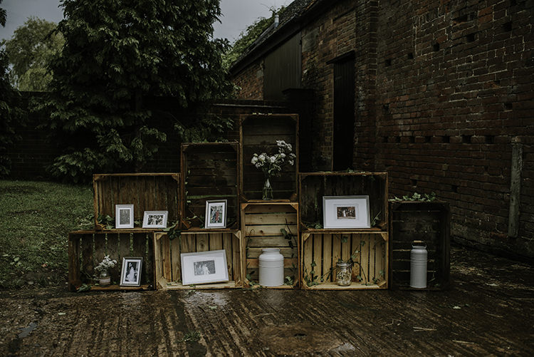 Crate Decor Boxes Flowers Enchanting Country Barn Wedding http://www.dmcclane.com/