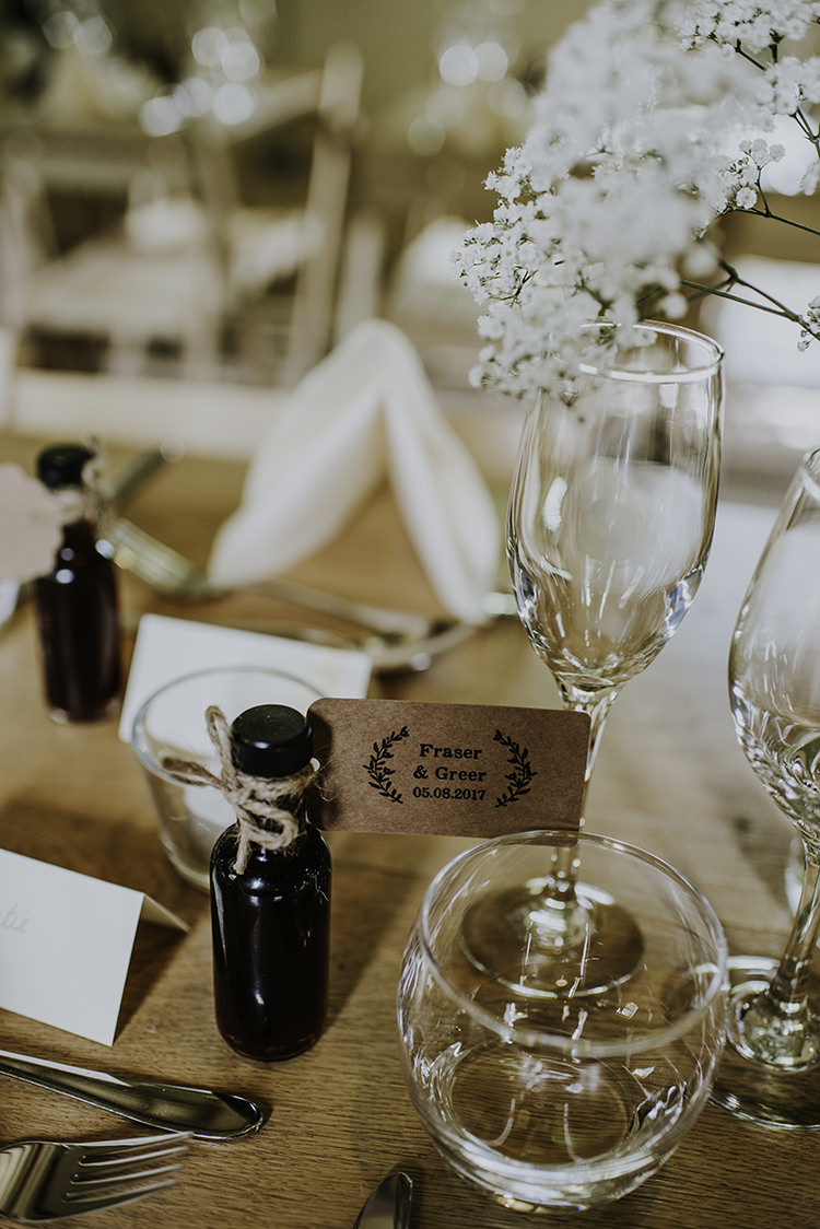 Mini Bottle Drink Favours Enchanting Country Barn Wedding http://www.dmcclane.com/