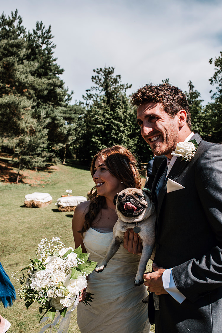 Pug Dog Pet Bride Groom Enchanting Country Barn Wedding http://www.dmcclane.com/