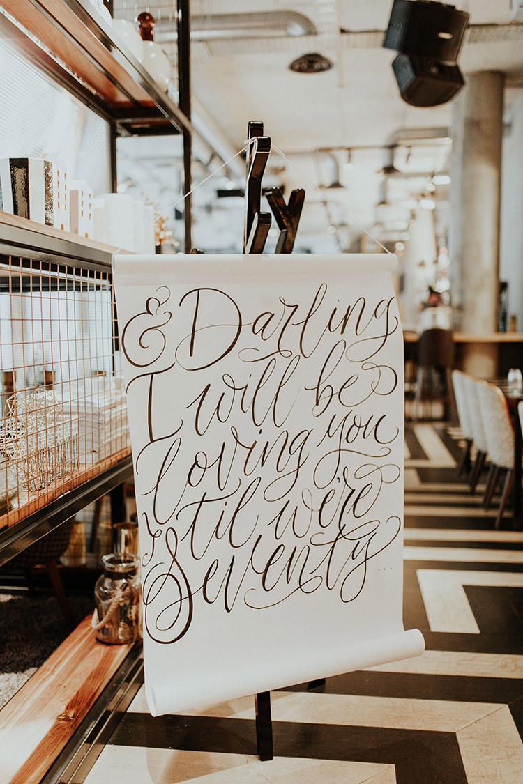 Sign Love Quote Banner Ed Sheeran Signage Words Lyrics Industrial Greenery City Wedding Ideas https://leahlombardi.com/