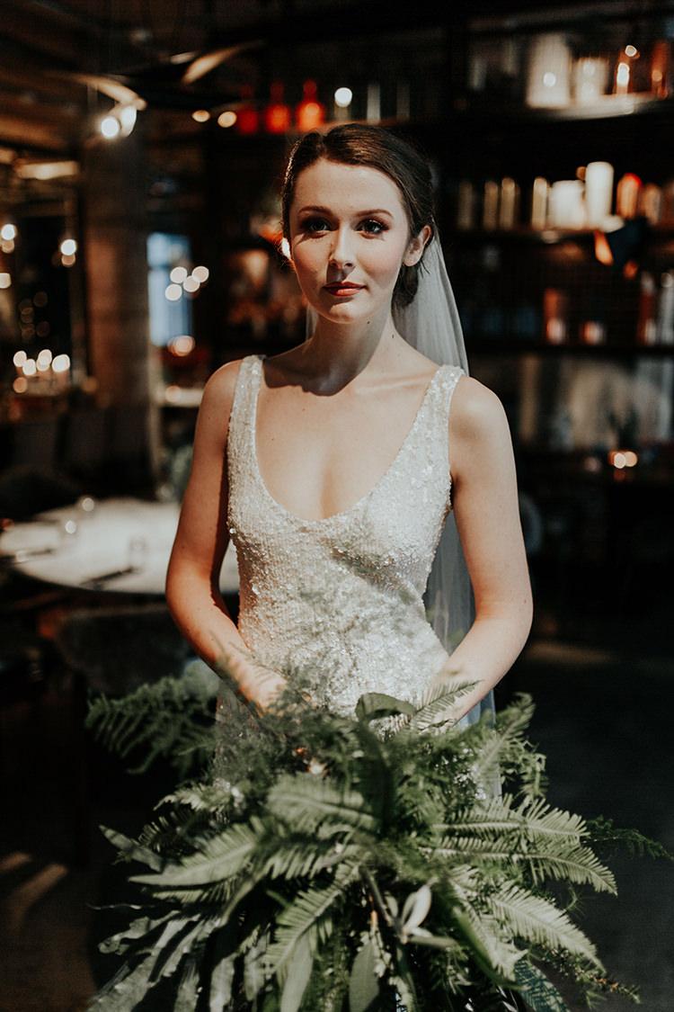 Make Up Bride Bridal Natural Pretty Industrial Greenery City Wedding Ideas https://leahlombardi.com/