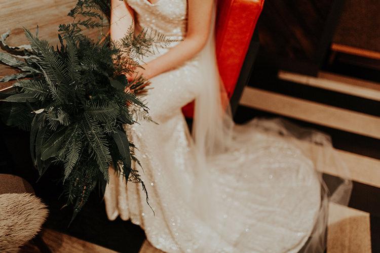 Fern Foliage Leaves Bouquet Flowers Bride Bridal Industrial Greenery City Wedding Ideas https://leahlombardi.com/