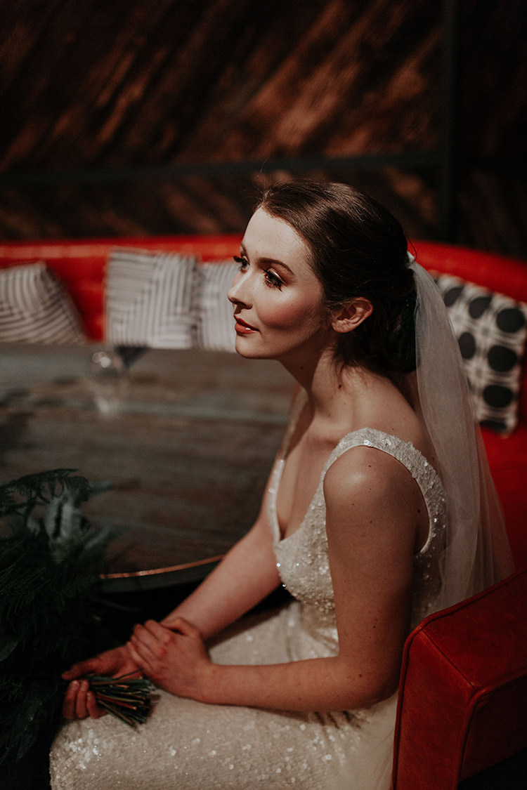 Hair Bride Bridal Up Do Veil Industrial Greenery City Wedding Ideas https://leahlombardi.com/