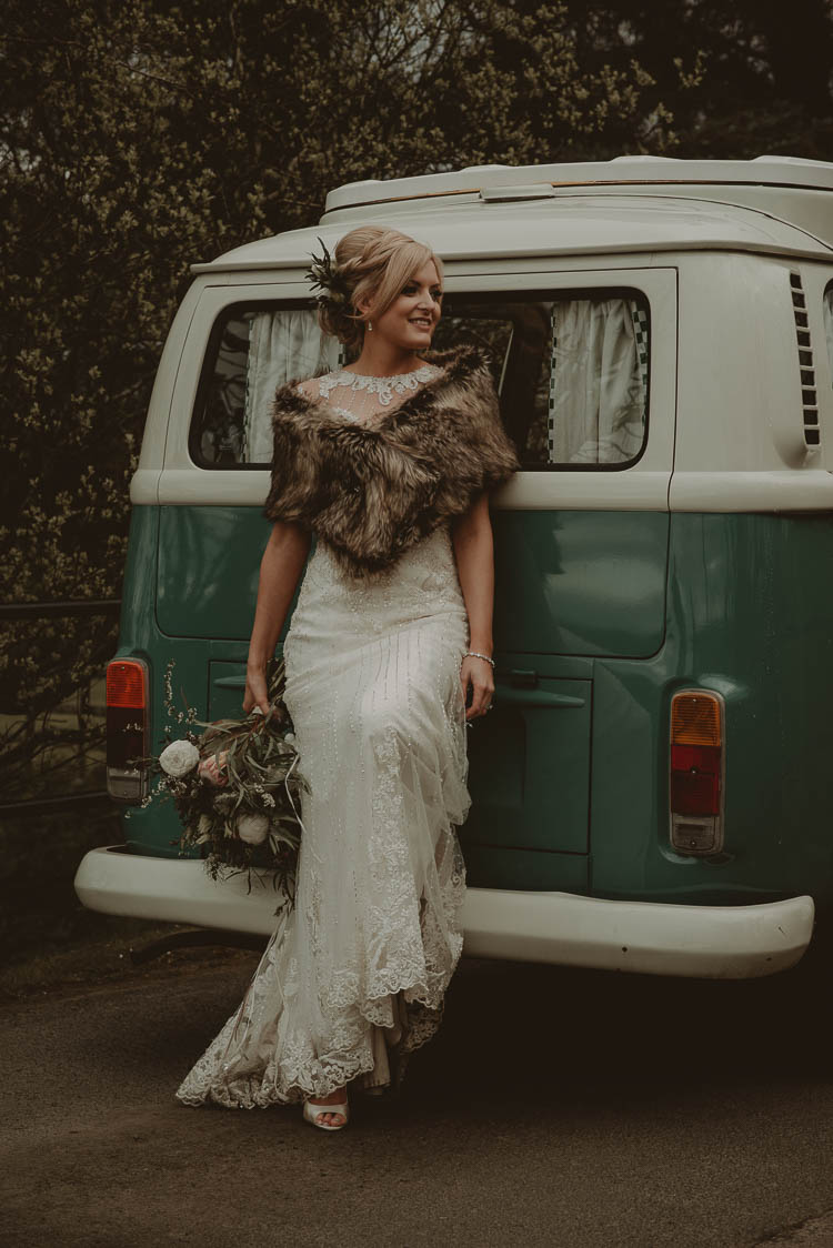 Bride Bridal Dress Gown Lace Shrug Beckett Sottero & Midgely Whimsical Modern Rustic Barn Wedding http://photomagician.co.uk/