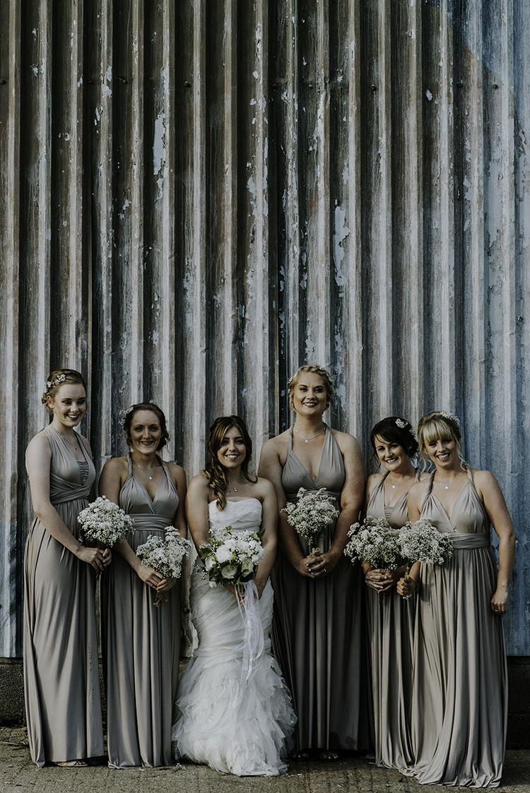 Long Maxi Multiway Bridesmaid Dresses Enchanting Country Barn Wedding http://www.dmcclane.com/
