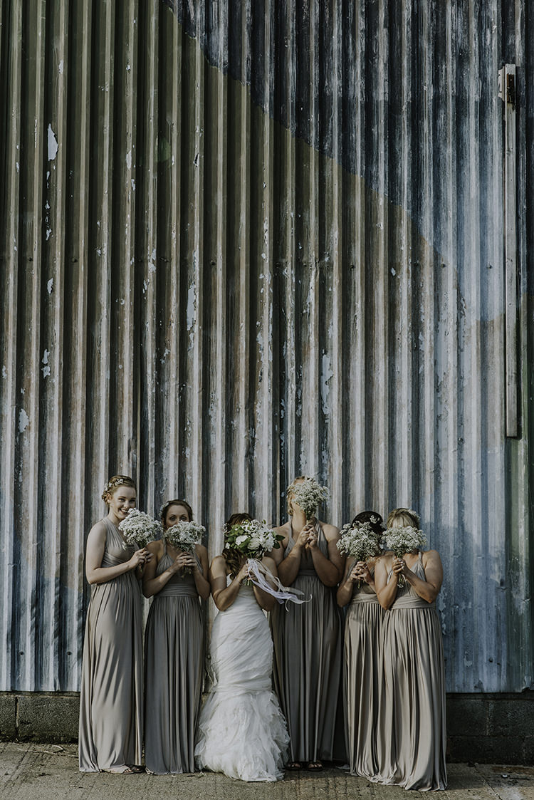 Gyp Gypsophila Baby Breath Bouquets Bridesmaids Enchanting Country Barn Wedding http://www.dmcclane.com/