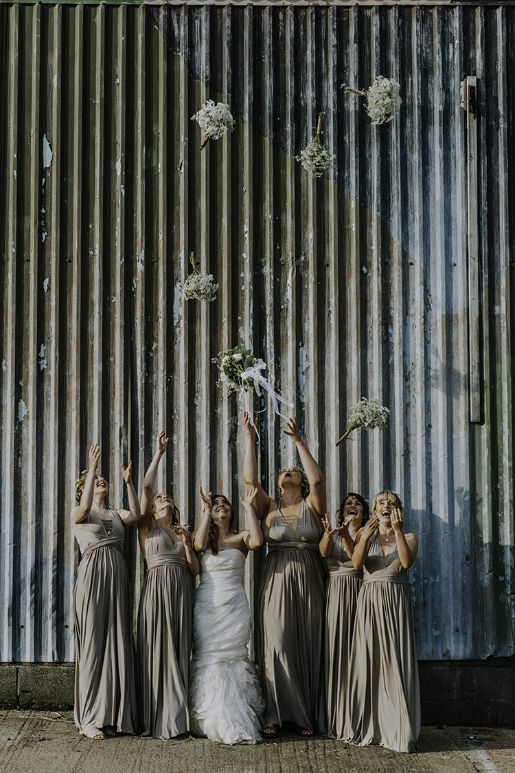 Long Multiway Bridesmaid Dresses Enchanting Country Barn Wedding http://www.dmcclane.com/
